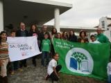 """Cerimónia do Hastear das Bandeiras Eco-Escolas e """"Escola SaudávelMente"""""""